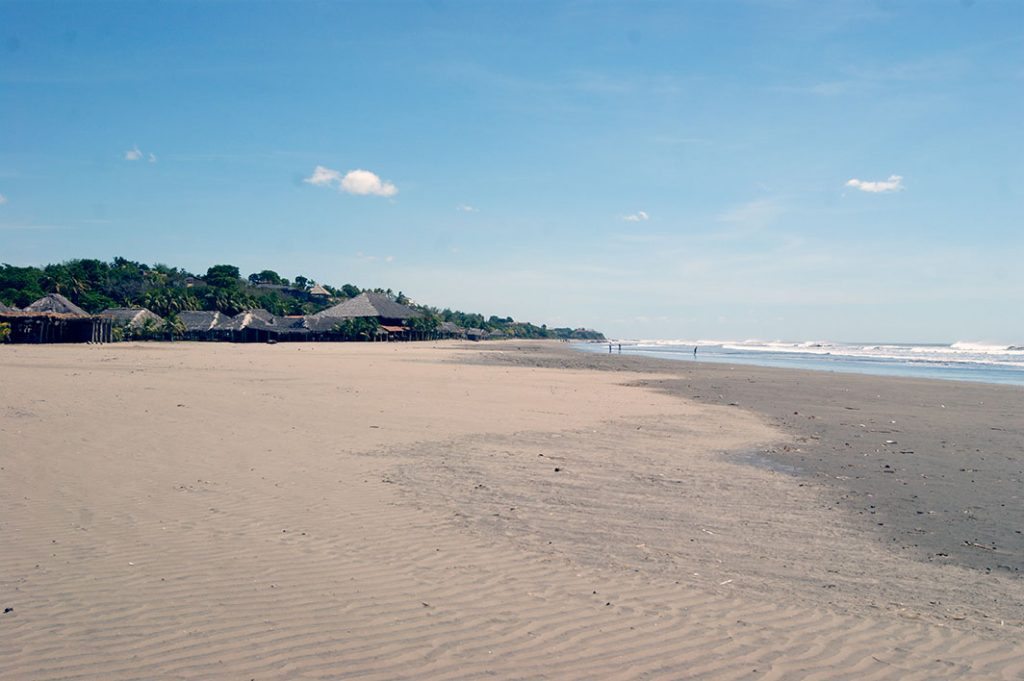 Playa Pochomil is a wide beach