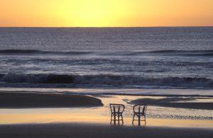 quaint sunset at Pinamar beach