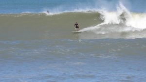 surfing at one of the most popular beaches of Argentina, Mar de ajo