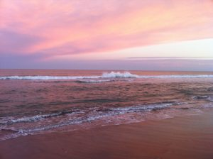 sunset at the stunning Carilo Beach of Argentina