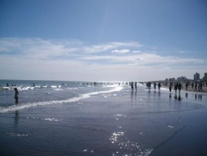 beautiful day at one of the best beaches of Argentina, Bahia Blanca beach