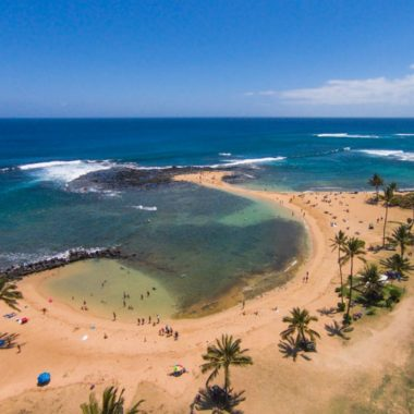 one of the best beaches in Kauai, Poipu Beach