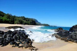 A beautiful day at Lumahai Beach in Kauai