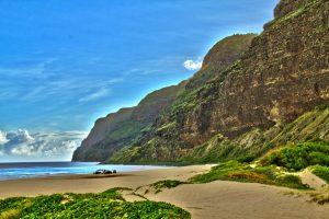 a sunny day at Polihale Beach in Kauai