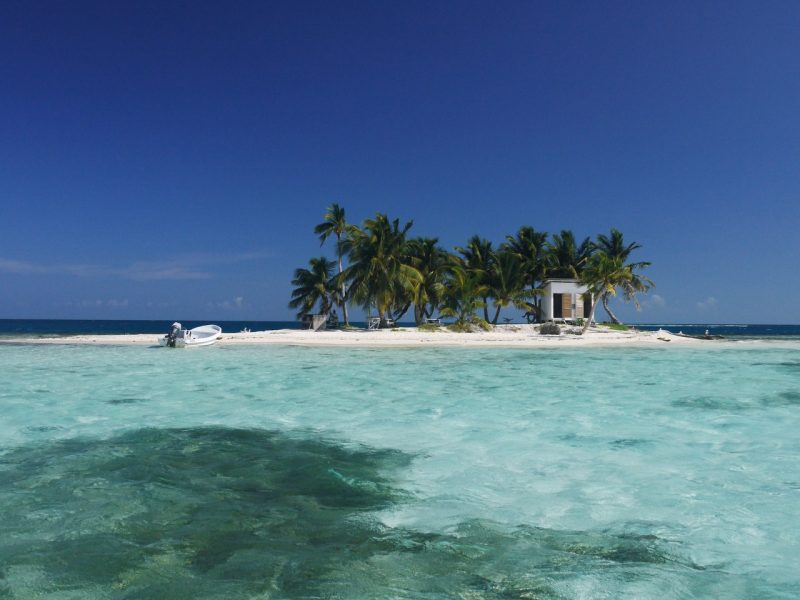One of the beaches in Belize, Silk Caye
