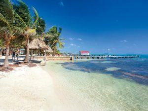 A beautiful day at one of the beaches in Belize, Ambergris Caye