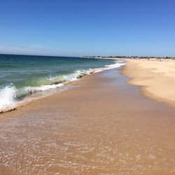 A typical day on the calm waters of East Matanuck Beach in Rhode Island