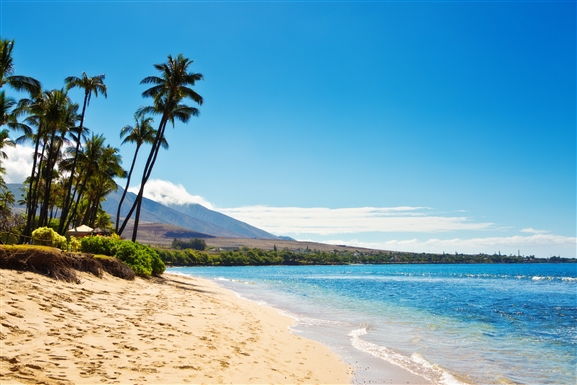 Kaanapali Beach in Hawaii