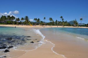 A typical day at one of the top beaches in Hawaii, Poipu Beach