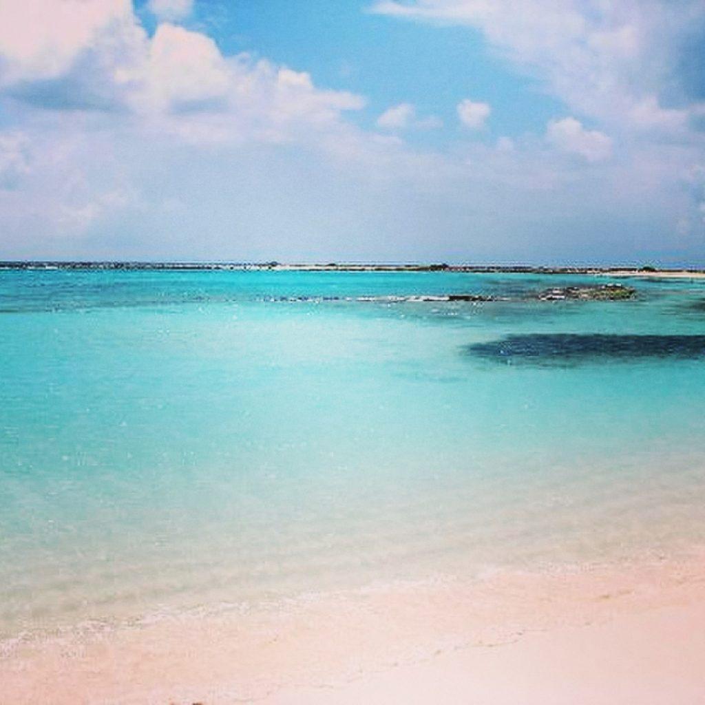 Sunny day at Baby Beach in Aruba