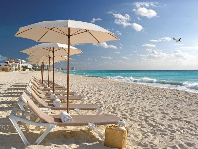 Cancun, Mexico - Beaches and Parasols