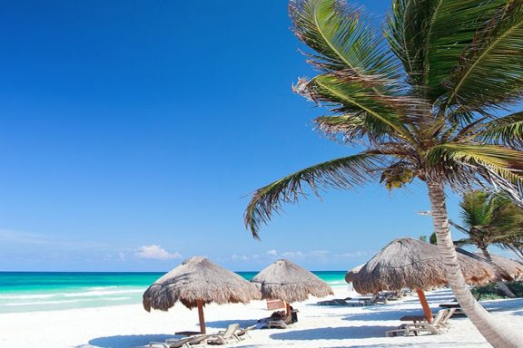 Playa Paraíso is a great example of Mexico Beaches