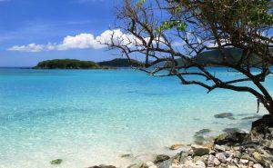 Transparent waters of Cinnamon Bay in St. John, Virgin Islands