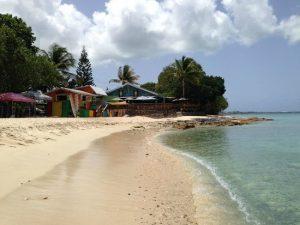 Shoreline view of Rainbow Beach on the U.S. Virgin Islands