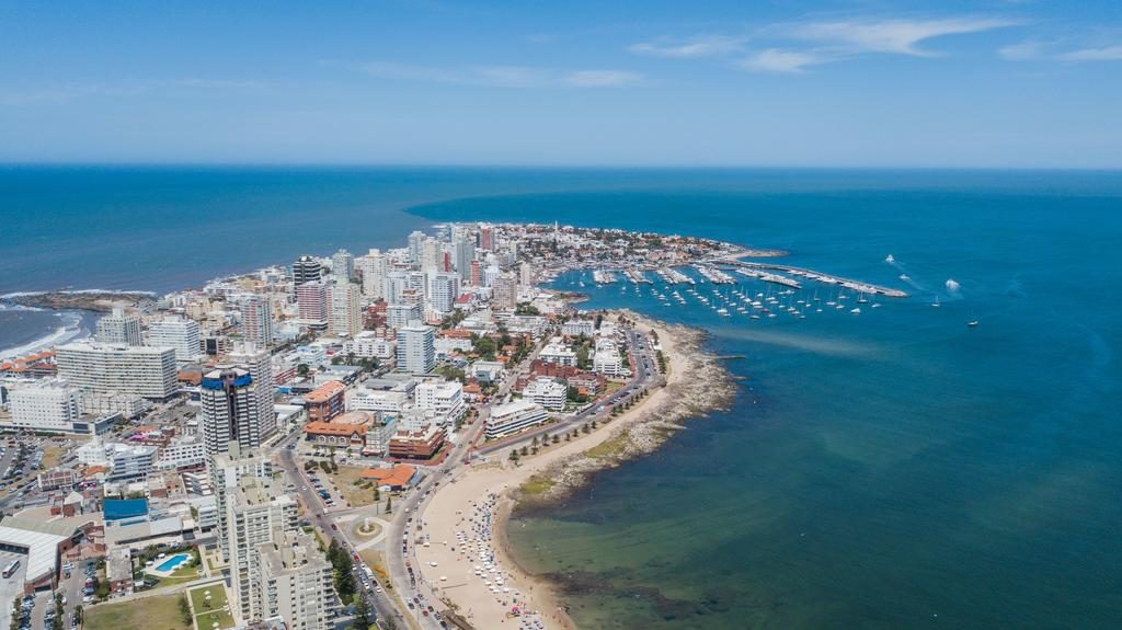 A clear day at one of the best beaches in Uruguay, Punta del Este