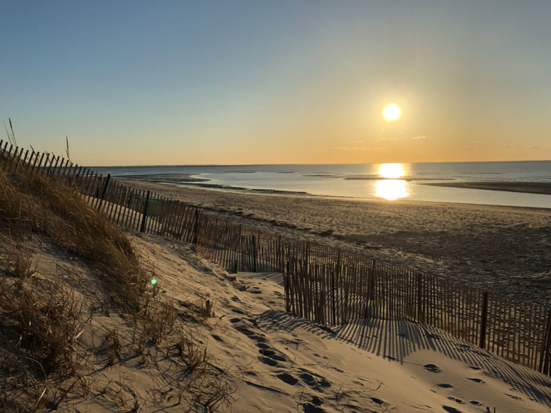 Sand dunes on Mayflower Beach
