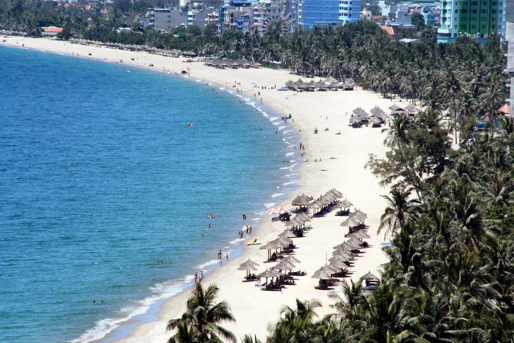 View of the shoreline at Nha Trang, Vietnam