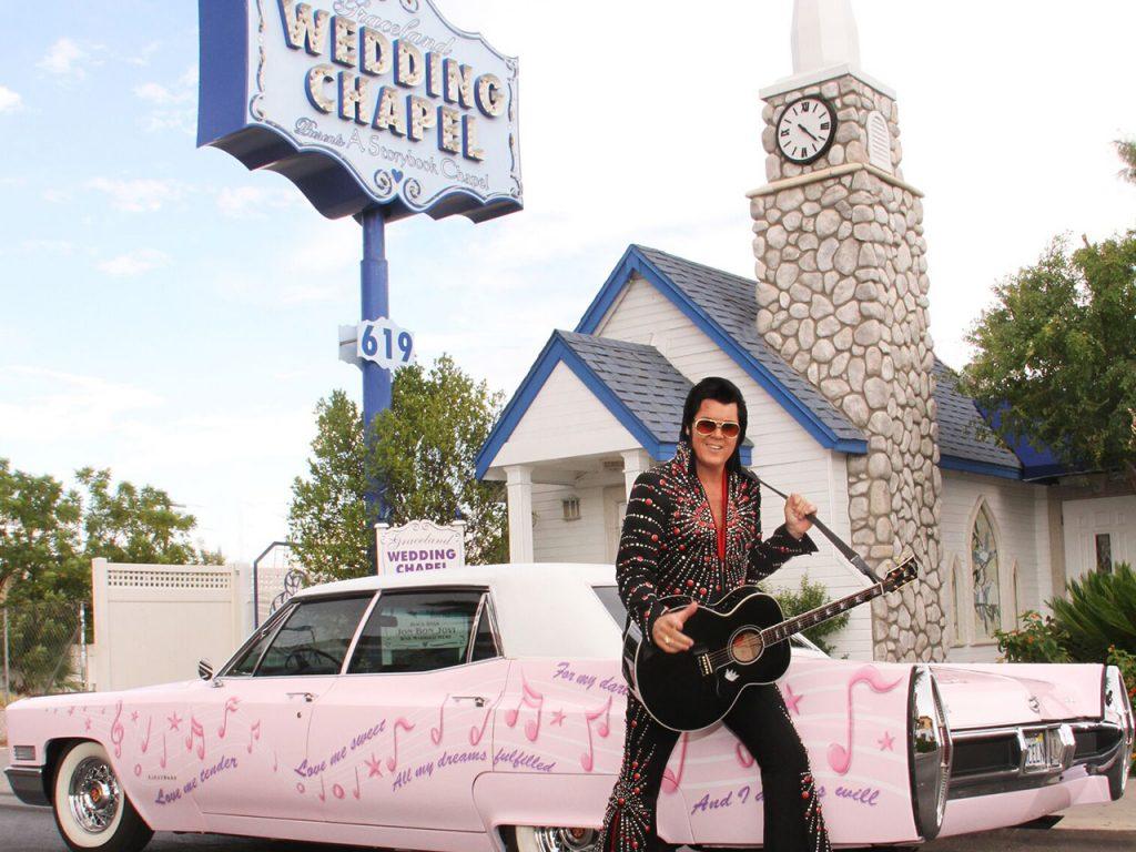 Elvis Impersonator at a Las Vegas wedding chapel