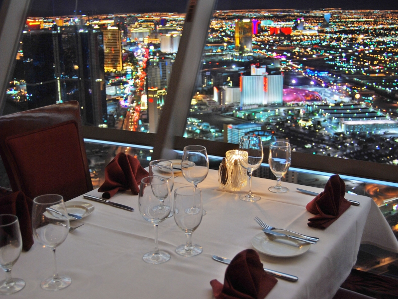 Top of the World Restaurant, Stratosphere Tower view
