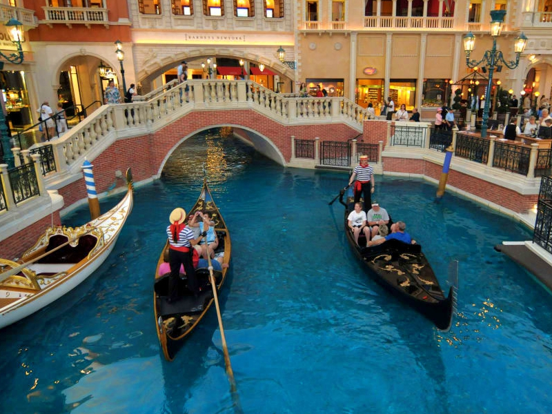 Taking a gondola ride is one of the top things to do in las vegas for couples