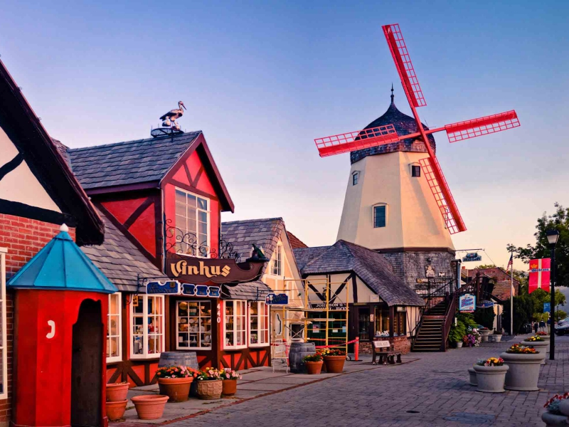 The quaint Danish-inspired town of Solvang