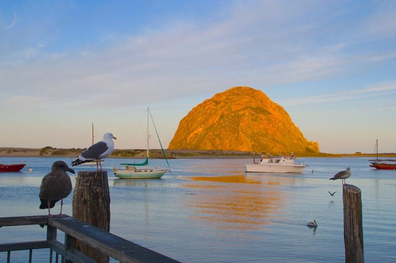 Morro Bay rock formation