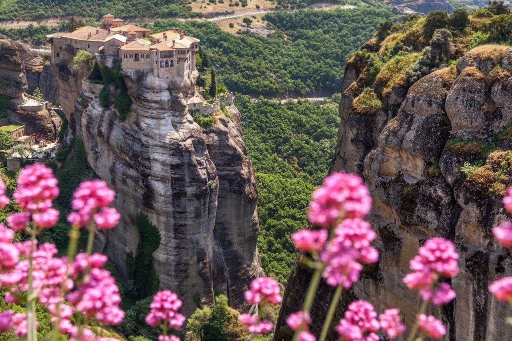 View of the Springtime flowers in Greece- the best time to visit Greece