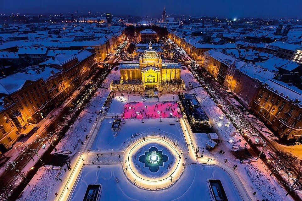 Zagreb comes alive with a Christmas market and a lot of lights lining the snow-covered streets — it's the best time to visit Croatia if you love the holiday spirit