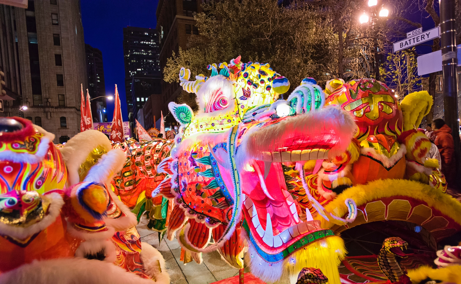 The dragon dance of 2013 in Chinatown during the Chinese New Year is very colorful and brought a lot of life to the city