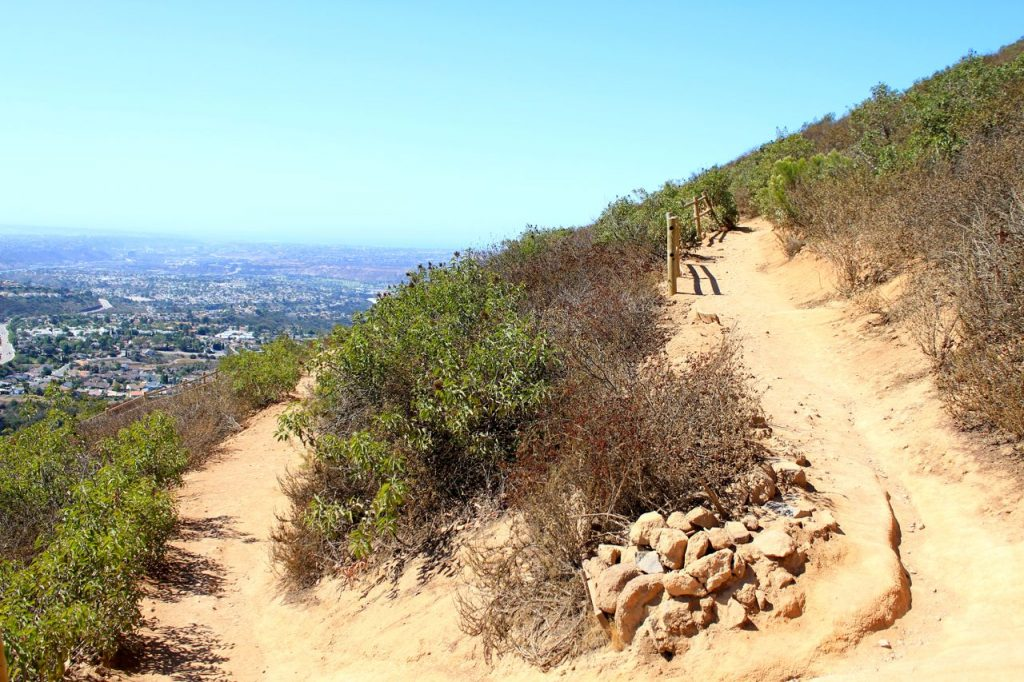 View of the trails overlooking San Diego at Cowles Mountain