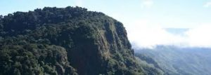 View of a tabletop mountain in San Jose Costa Rica