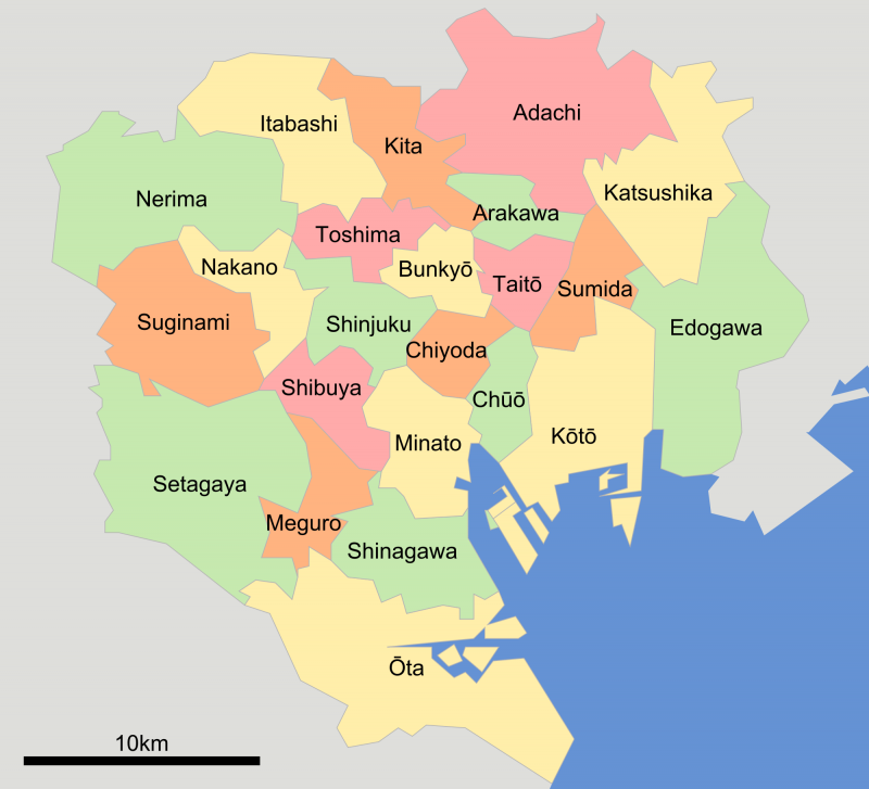 Map of Tokyo Districts