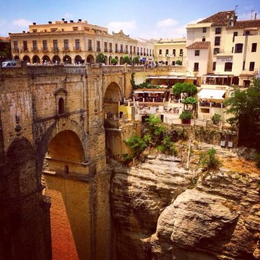 View of colonial buildings in Southern Spain