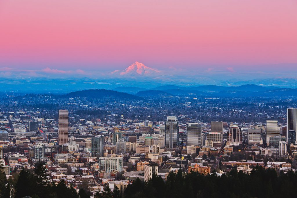 One of the travel hot spots, Portland, Oregon