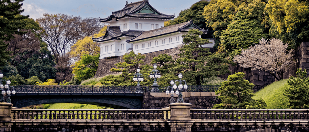 View of the Imperial Palace in Tokyo