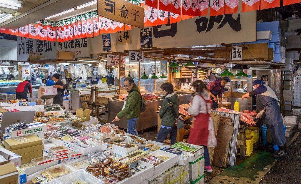 Fish market in Tsukiji