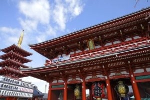 View of the Senso-ji temple in Tokyo