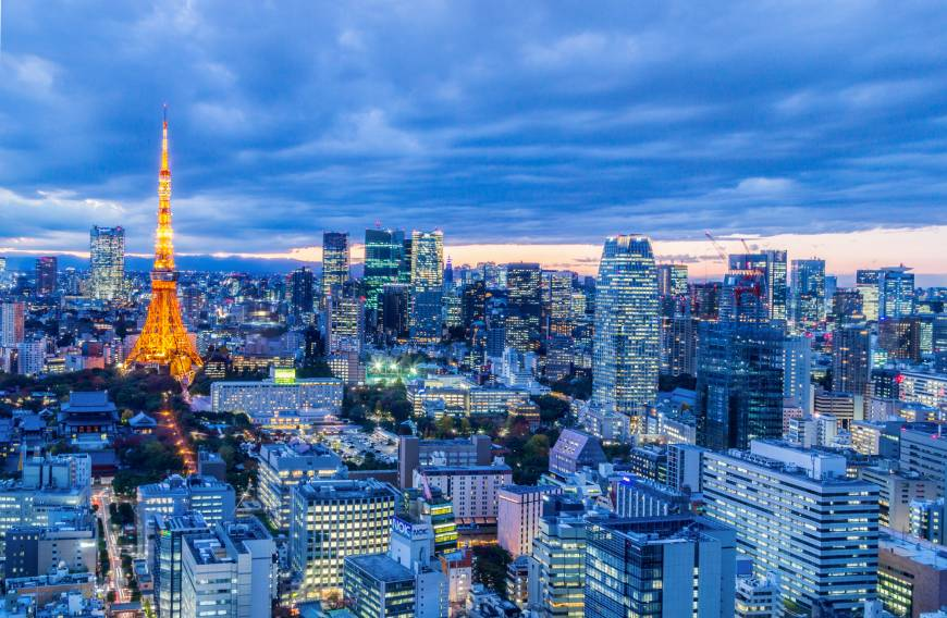 Nighttime view of Minato Tokyo