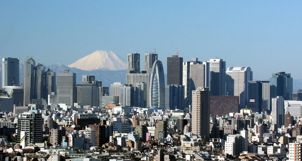 View of Tokyo with Mt. Fuji